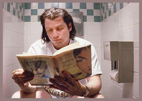 John Travlota in Pulp Fiction on the toilet