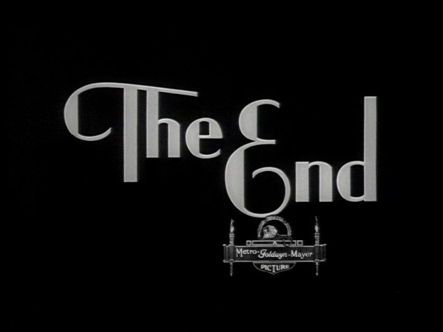 """end credits """"the end"""""""