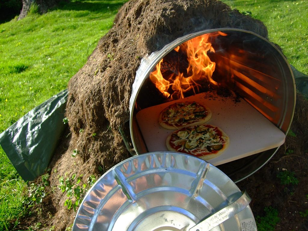 garbage pizza oven