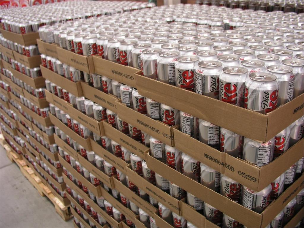 stacks of diet coke