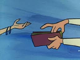 george jetson giving his family money gif