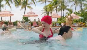 1950s tropical pool scene