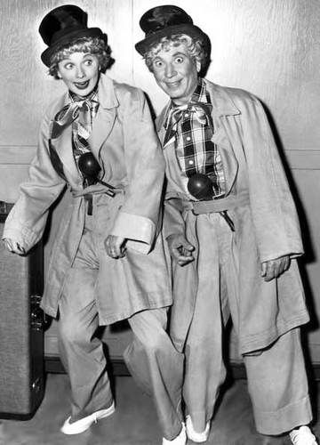 Lucille Ball dressed identical to famous mimer
